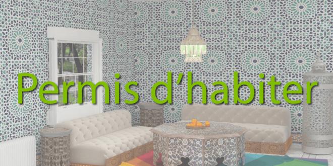 la proc dure d obtention du permis d habiter commune demnate. Black Bedroom Furniture Sets. Home Design Ideas